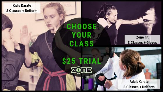Choose a class $25 Trial