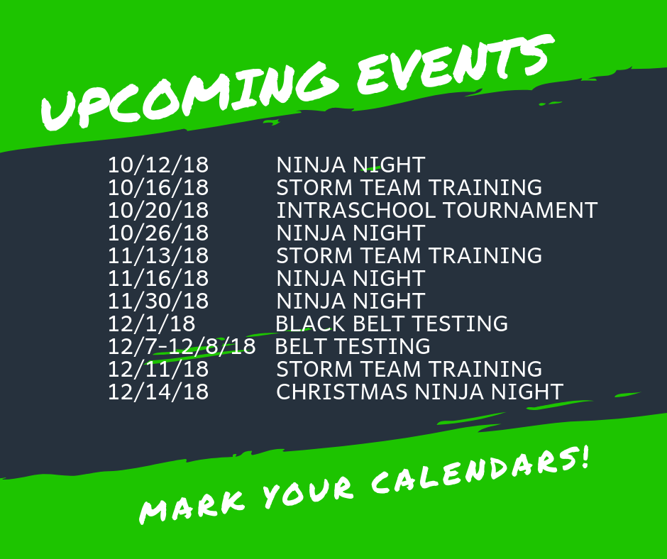 Upcoming Events Graphic Winter 2018